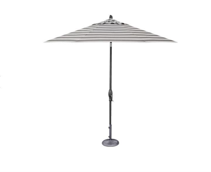 Treasure Garden 9′ Auto Tilt Umbrella – Kinzie Smoke Stripe