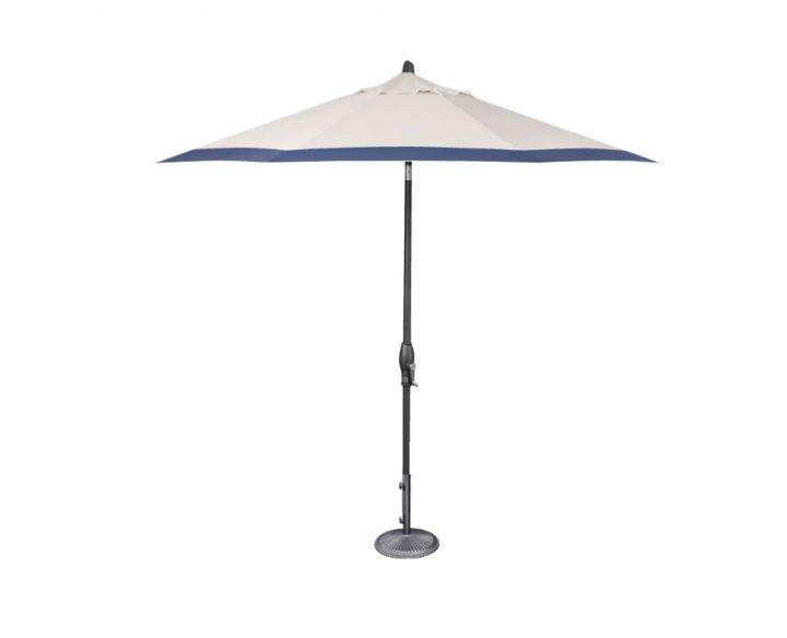 Treasure Garden 9′ Auto Tilt Umbrella – Canvas with Canvas Neptune Border