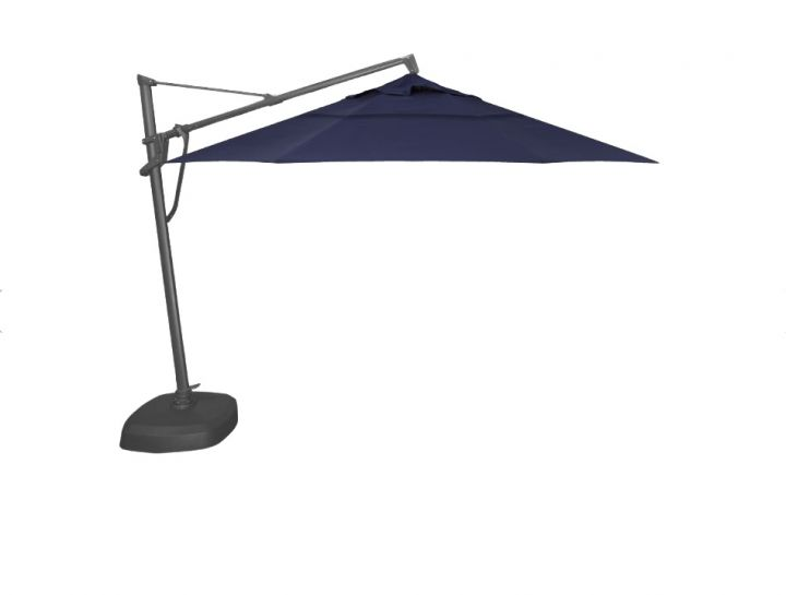 Treasure Garden AKZP2D 11′ Plus Cantilever Umbrella – Spectrum Indigo