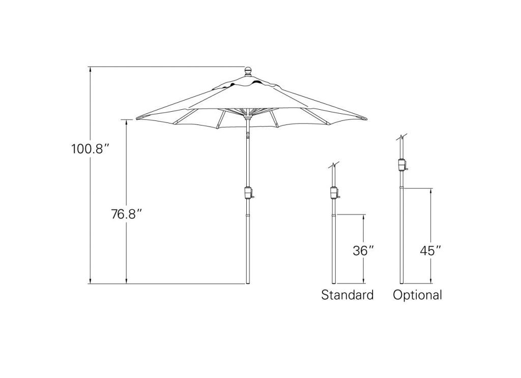 Treasure Garden 7 5 Push Button Tilt Market Umbrella