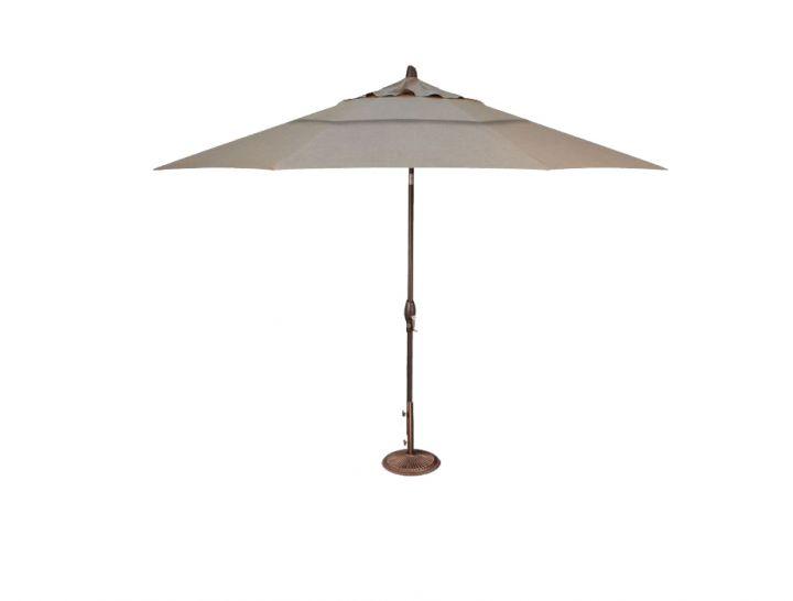 Treasure Garden 11′ Auto Tilt Umbrella – Cast Ash