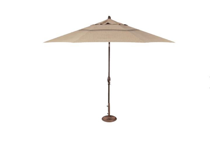 Treasure Garden 11′ Auto Tilt Umbrella – Taupe Rib
