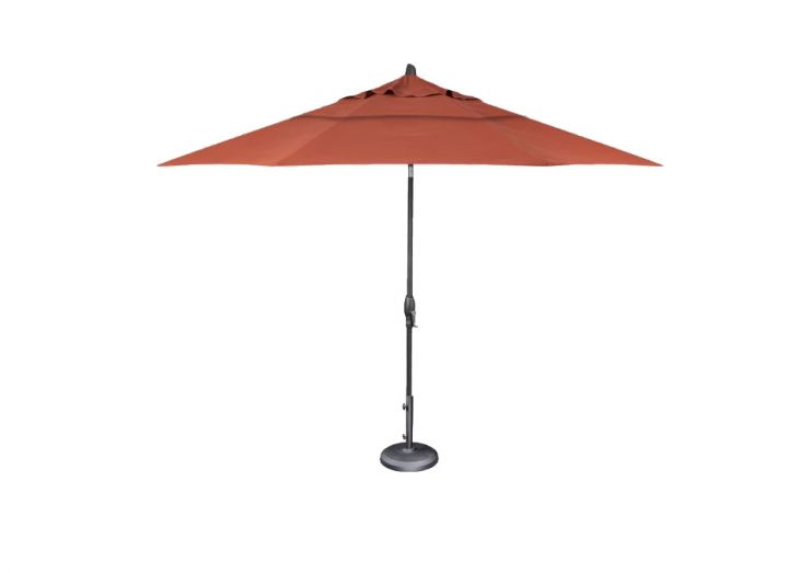 Treasure Garden 11′ Auto Tilt Umbrella – Canvas Rust