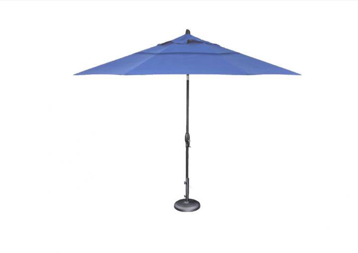 Treasure Garden 11′ Auto Tilt Umbrella – Sky Blue
