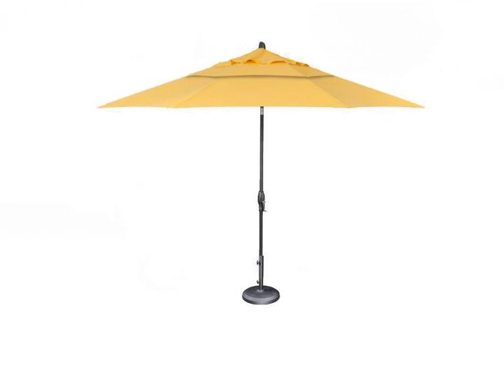 Treasure Garden 11′ Auto Tilt Umbrella –  Sunflower Yellow