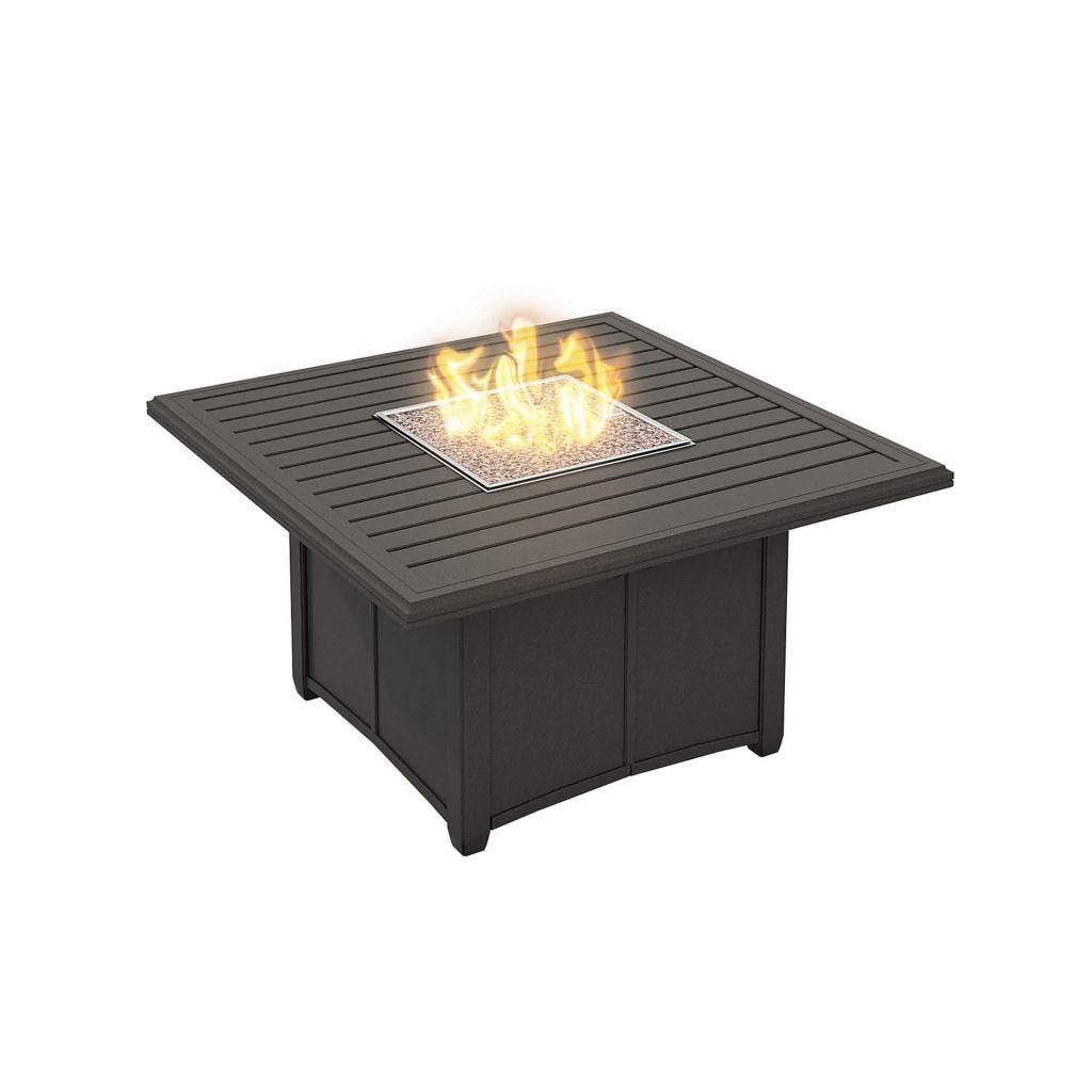 Tropitone banchetto 48 square fire pit leisure living for Square fire ring