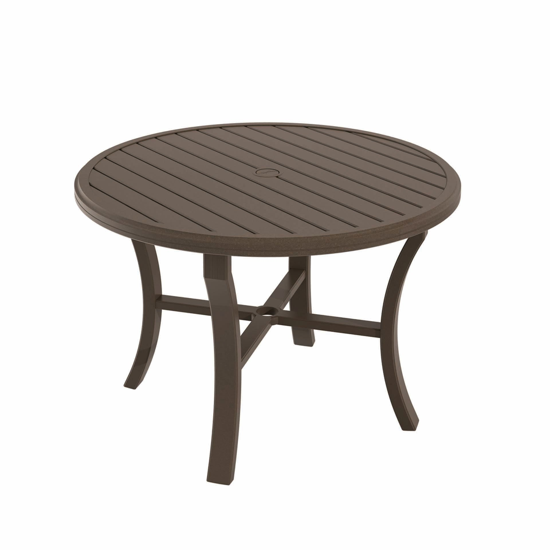 "Tropitone Banchetto 42"" Round Dining Table Leisure Living"