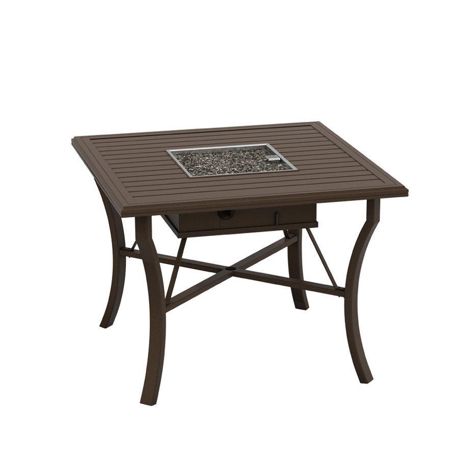 Tropitone Banchetto 48 Square Counter Height Fire Table