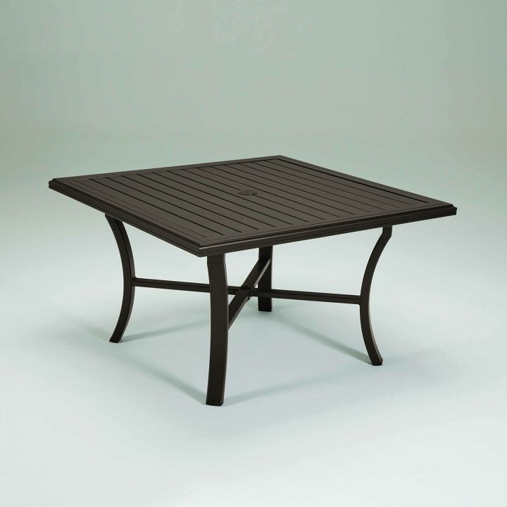 tropitone banchetto 48 square dining table leisure living. Black Bedroom Furniture Sets. Home Design Ideas