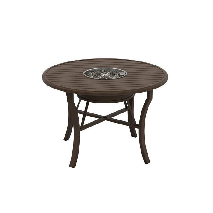 Tropitone Banchetto 54 Round Counter Height Fire Table