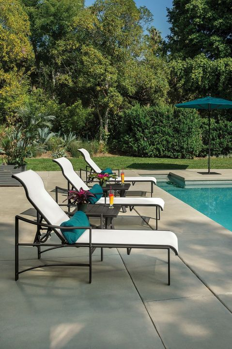 Lakeside Collection Patio Furniture: Tropitone Kenzo Sling Chaise Lounge