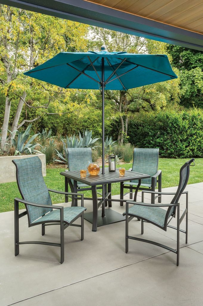"Tropitone Patio Chairs: Tropitone Banchetto 66x42"" Rectangular Dining Table"