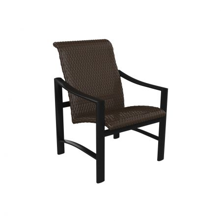 Tropitone Kenzo Woven Dining Chair Front View