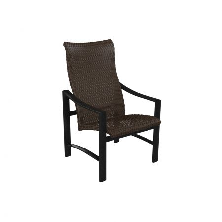 Tropitone Kenzo Woven High Back Dining Chair Front View