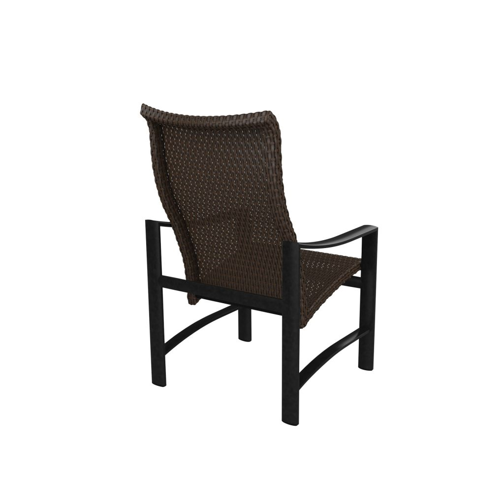 Tropitone Kenzo Woven High Back Dining Chair Leisure Living