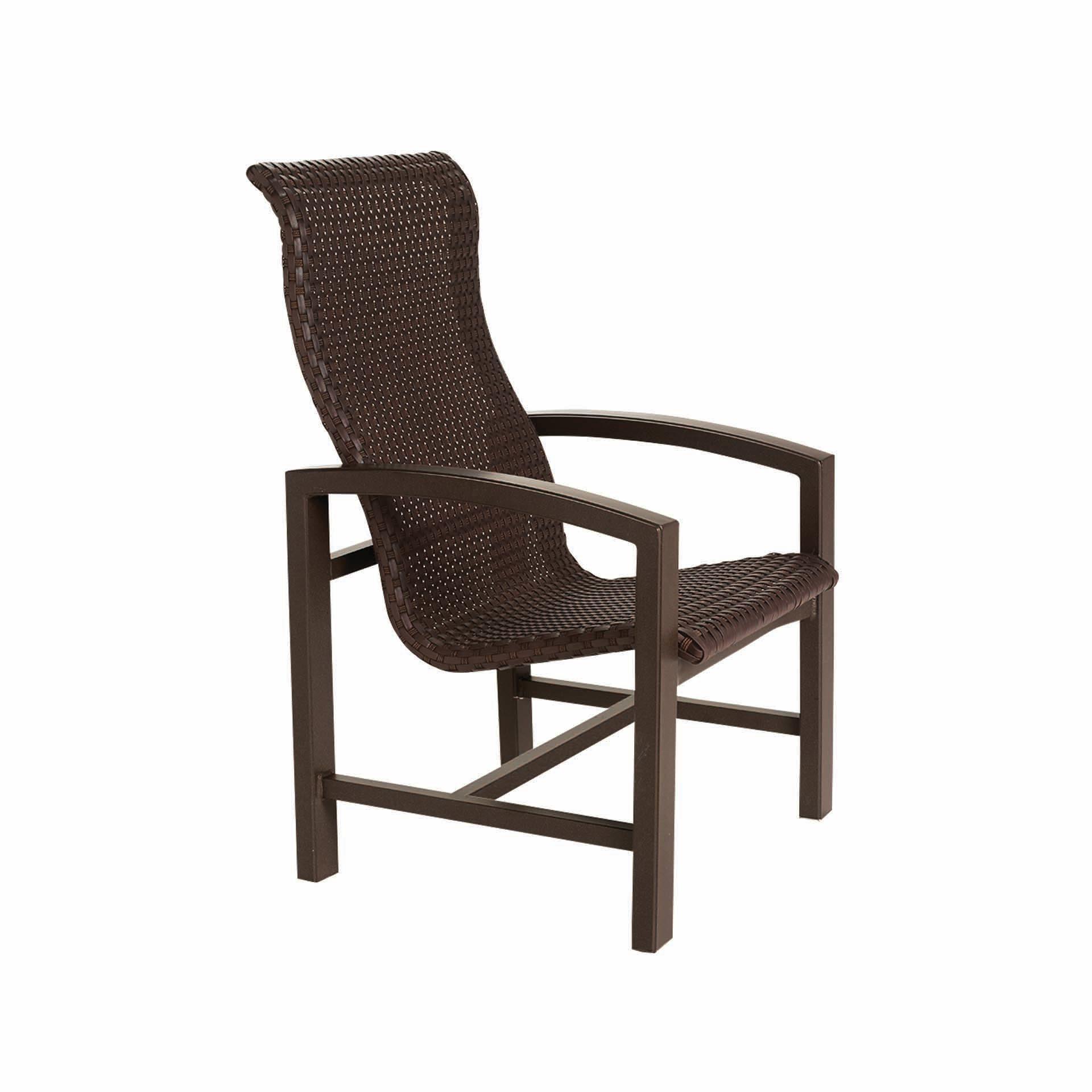 American Leisure Patio Furniture Santa Cruz Ca: Tropitone Lakeside Woven High Back Dining Chair