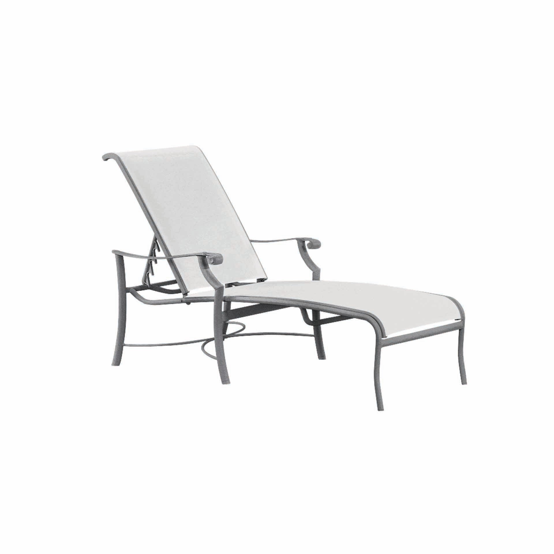 Tropitone montreux sling chaise lounge leisure living for Chaise lounge construction