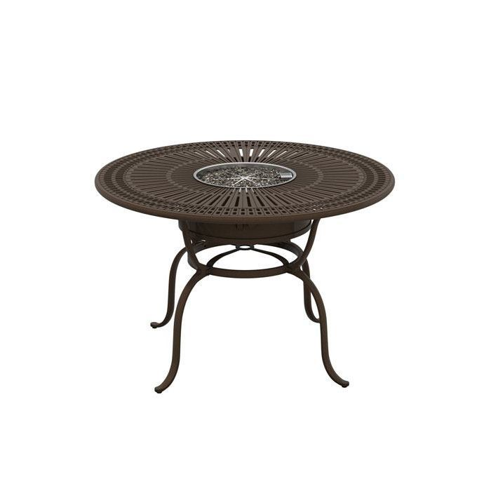 Tropitone Spectrum 55″ Round Counter Height Fire Table