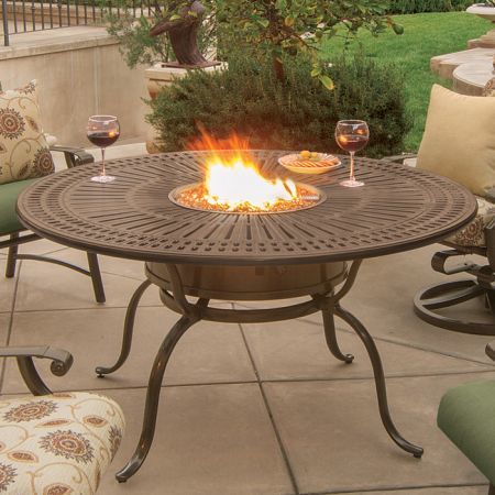 Tropitone Spectrum 55 Round Dining Fire Table