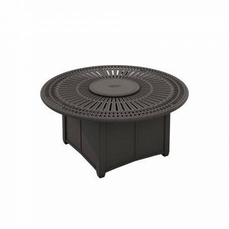Tropitone Spectrum 55 Round Fire Pit Shown with Optional Lid