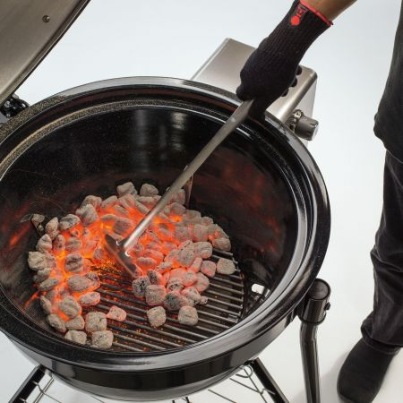 Weber Charcoal Rake Moving Hot Coals In The Summit Charcoal Grill