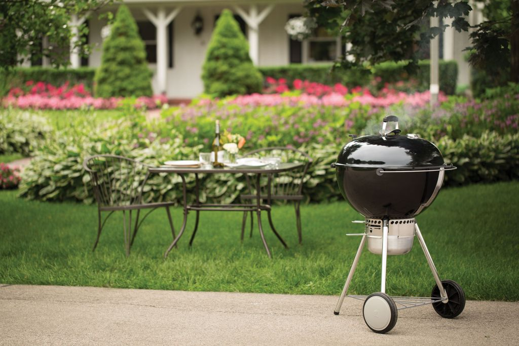 ... Weber Master Touch Charcoal Grill On PatioWeber Master Touch Charcoal  Grill On Patio
