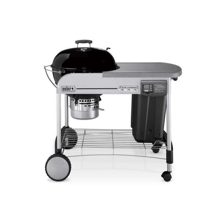 Weber performer deluxe charcoal grill black leisure living for Weber performer deluxe