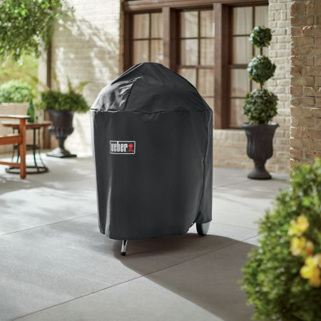 Weber Premium 26 Inch Charcoal Grill Cover Shown At HomeWeber Premium 26 Inch Charcoal Grill Cover Shown At Home