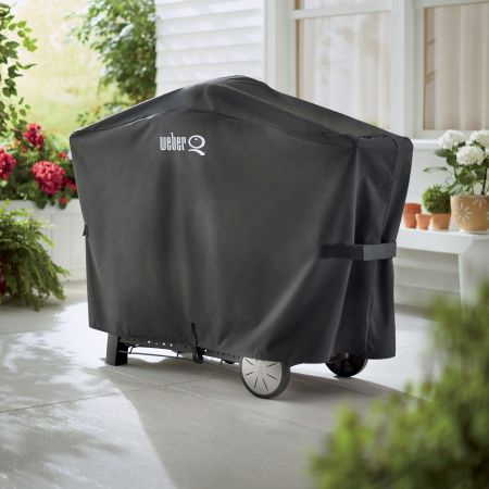 Weber Q2000 And Q3000 Series Grill Cover On Back Patio