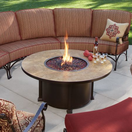 Ow Lee Casual Fireside 54 Quot Round Santorini Chat Fire Pit